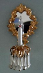 Sconce, 1 Arm, Oval Mirror & Bugles