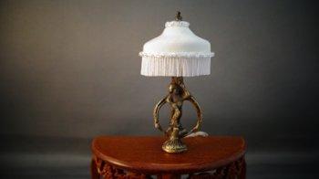 Lamp Angel Bronze Base Silk Shade Ngl9 49 99