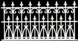Fence 3-1/2 In White Ornate Plastic, 2Pc