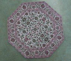 Large Octagon Rug, Assorted Colors
