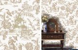 P-Ying Toile Antique Wallpaper
