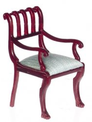 British Colonial Armchair, Mahogany