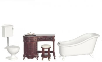 Avalon Bath Set, Mahogany