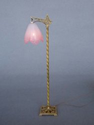 Deco Floor Lamp, Frosted Shade Pink