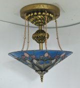 Stain Glass French Floral Chandelier