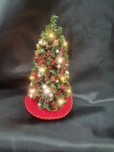 Christmas Tree, Red & Gold Decorations