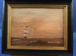 """Sailing West"" Framed Painting"