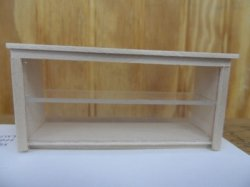 "1/2"" ""Glass"" Front Display Cabinet, Unfinished"