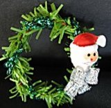 Christmas Wreath, Santa
