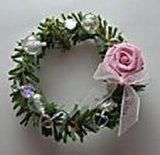 Christmas Wreath, Victorian Pink