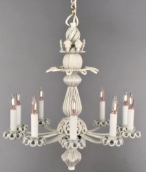 Scarlett Chandelier in White