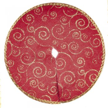 Tree Skirt, Red & Gold
