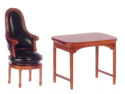 "1/2"" Jefferson Desk & Revolving Chair, Walnut"