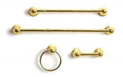 Brass Towel Rack, 4pcs
