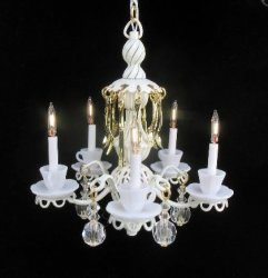 Teacup Chandelier, White