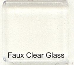 Faux Clear Glass Tiles