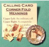 Victorian Calling Cards w/Placement