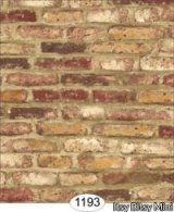 Tumbled Brick, Red Wallpaper