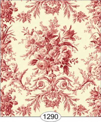 Rose Tapestry Red Toile Wallpaper Wal1290 3 99