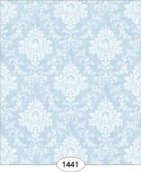 Princess Damask, Blue Wallpaper