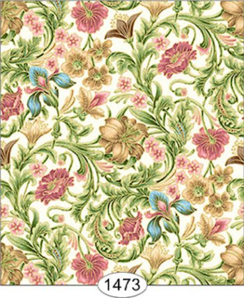 Floral Tapestry Wallpaper Pink