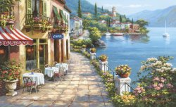 A Waterfront Cafe Mural