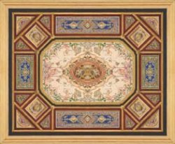 CEILING MURAL 6099 MINIATURE DOLLHOUSE WALLPAPER 1:12 SCALE