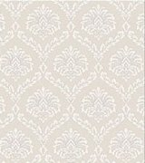 Ethereal Damask Beige Wallpaper