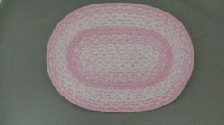 Braided Rug in Pink & White