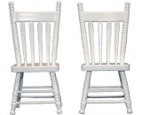 Kitchen Chair, White, 1pc