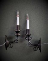 Sconce, Dark Brass Candle Light, Pair
