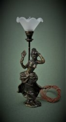 Bronze Lady Fluted Shade Lamp