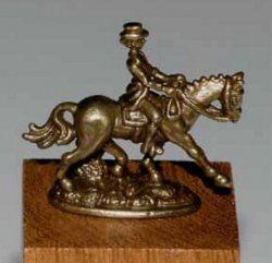 Dressage Figurine, Natural Bronze