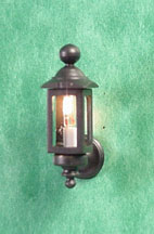 "1/2"" Black Coach Lamps, pair"