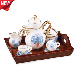 Blue Forget me not Coffee Set
