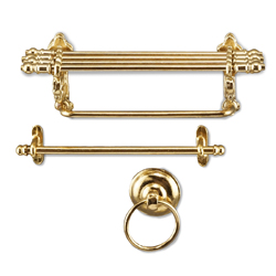 Brass Bathroom Shelf Set