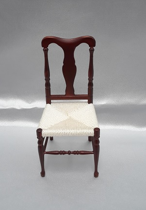 Q.A. English Side Chair, Rush Seat, MH