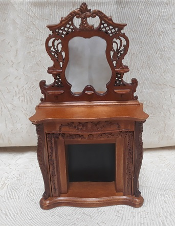 Ornate Fireplace w/ Mirror, NWN