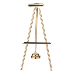 Brass Easel with Picture Light LED