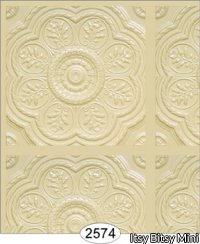 Medallion Panel, Cream Wallpaper