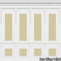 French Wall Panel, Yellow Wallpaper