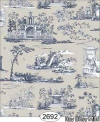 Rose Hill Toile, Navy/Grey