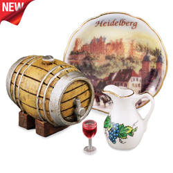 Heidelberg Wine Barrel Set