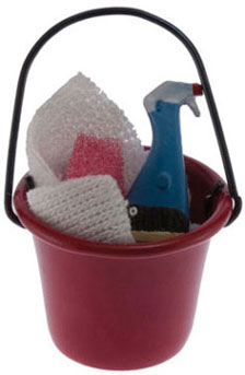 Soap Bucket w/ Cleaning Accessories