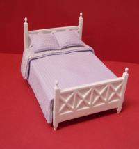 Ashley Double Bed, White