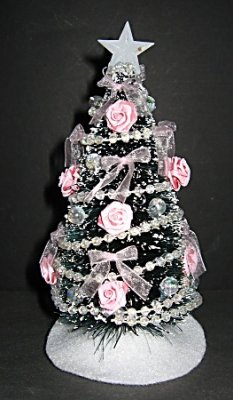 Christmas Tree, Victorian Pink - Click Image to Close