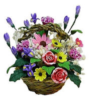 Floral Bouquet in Basket