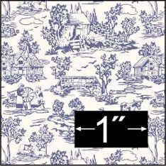 Campagne Toile Blue Wallpaper