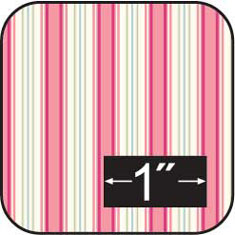 "1/2"" Cherry Stripe Cotton Fabric"