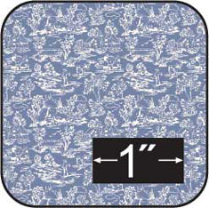 "1/2"" Camp. Blue Reverse Cotton Fabric"